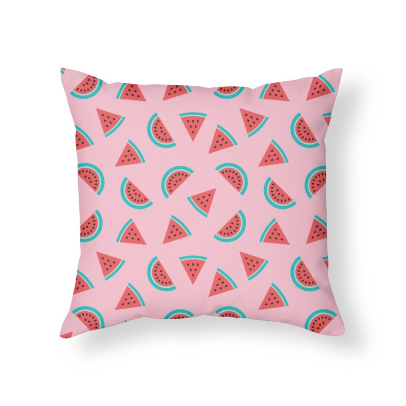 Watermelon Fruit Pattern Home Throw Pillow by abstractocreate's Artist Shop