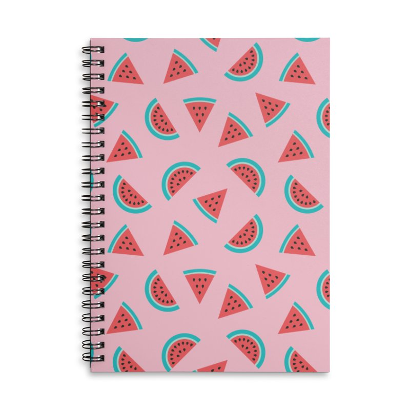 Watermelon Fruit Pattern Accessories Lined Spiral Notebook by abstractocreate's Artist Shop