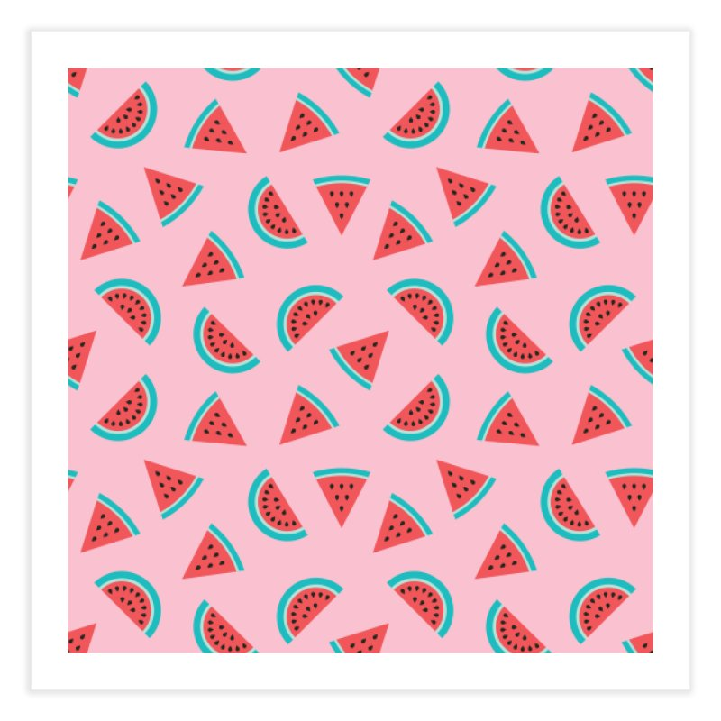 Watermelon Fruit Pattern Home Fine Art Print by abstractocreate's Artist Shop