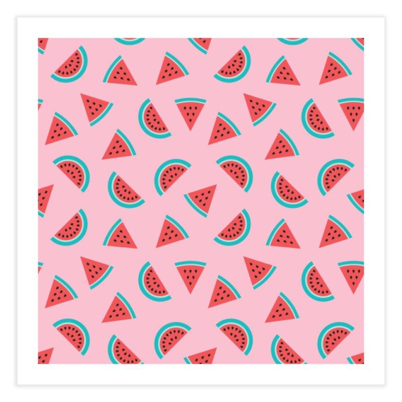 Watermelon Fruit Pattern Home Fine Art Print by abstractocreate's Artist Shop