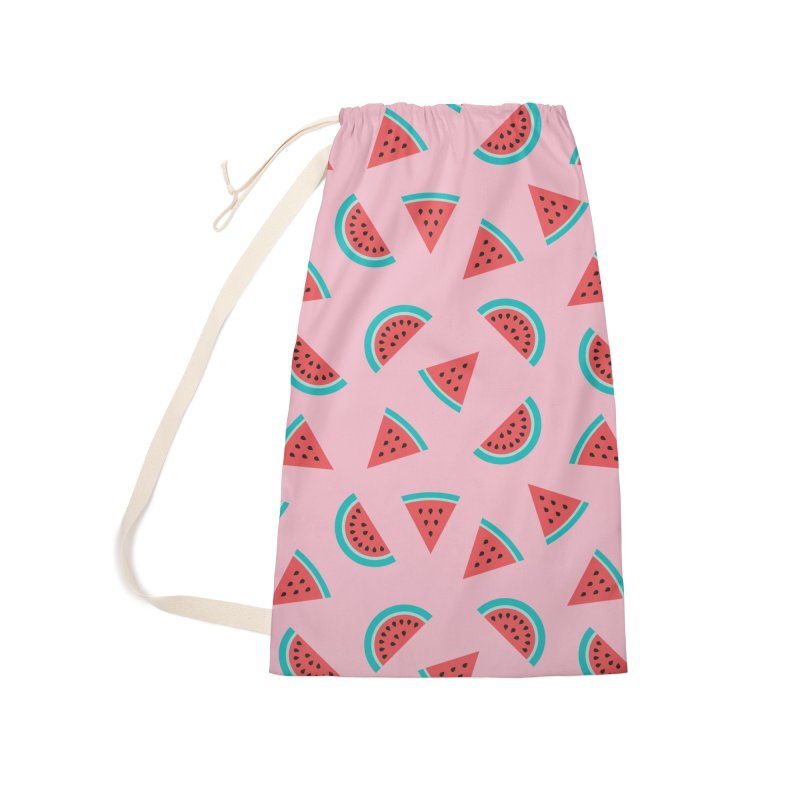 Watermelon Fruit Pattern Accessories Laundry Bag Bag by abstractocreate's Artist Shop