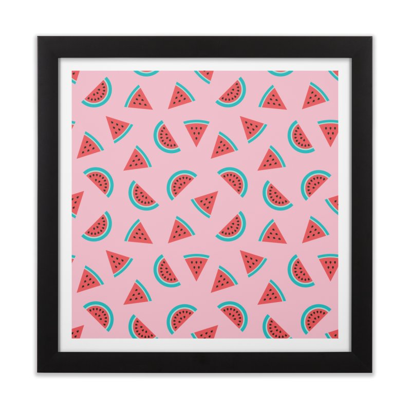 Watermelon Fruit Pattern Home Framed Fine Art Print by abstractocreate's Artist Shop