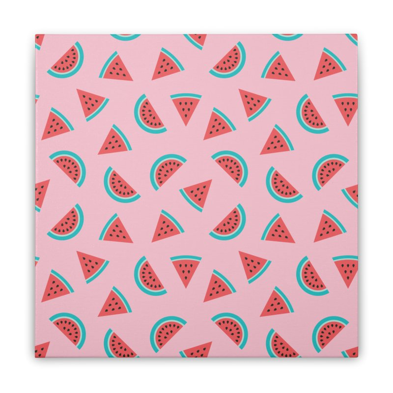 Watermelon Fruit Pattern Home Stretched Canvas by abstractocreate's Artist Shop