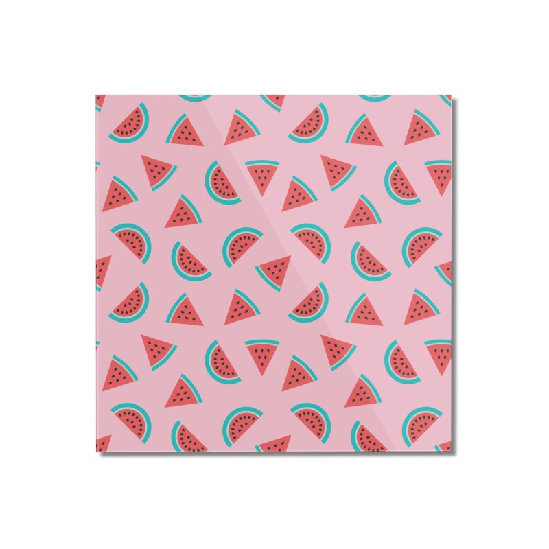 Watermelon Fruit Pattern Home Mounted Acrylic Print by abstractocreate's Artist Shop