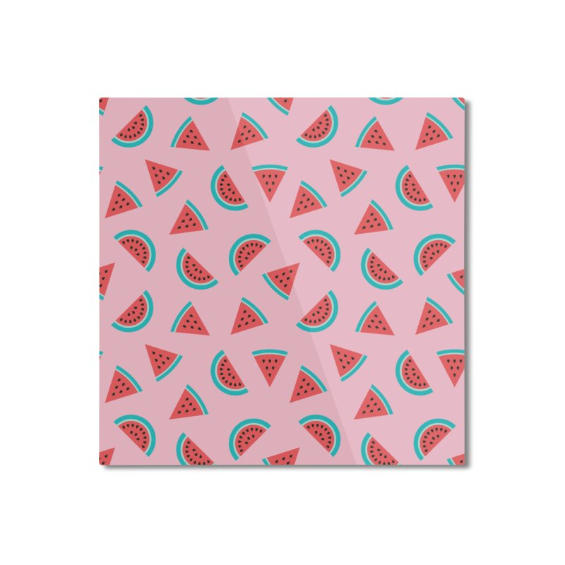 Watermelon Fruit Pattern Home Mounted Aluminum Print by abstractocreate's Artist Shop
