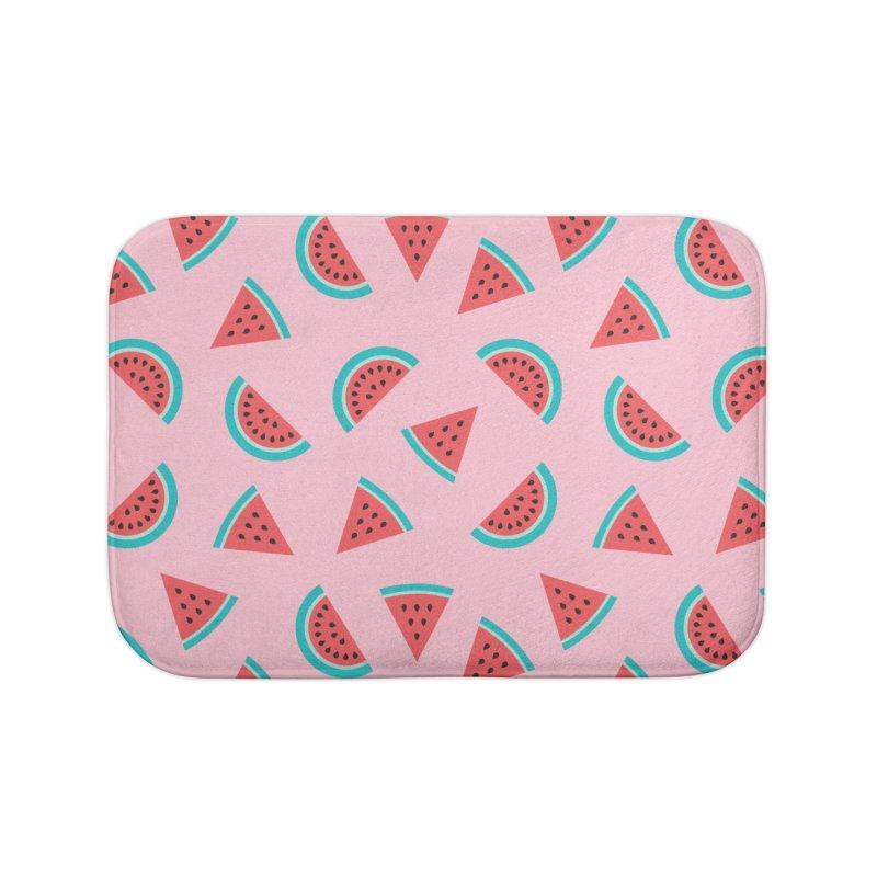 Watermelon Fruit Pattern Home Bath Mat by abstractocreate's Artist Shop