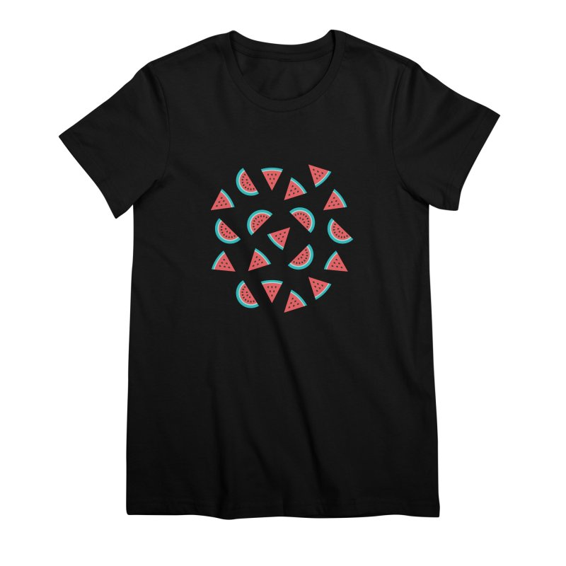 Watermelon Fruit Pattern Women's Premium T-Shirt by abstractocreate's Artist Shop