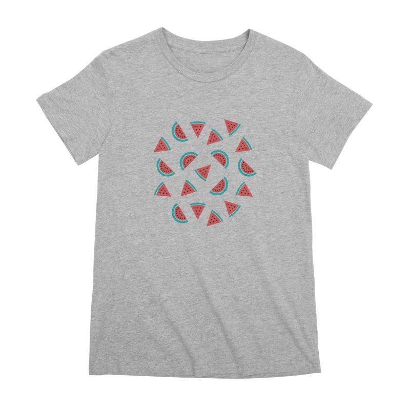 Watermelon Fruit Pattern Women's Premium T-Shirt by abstractocreate's Artist Shop