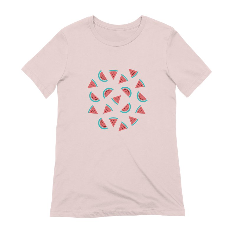 Watermelon Fruit Pattern Women's Extra Soft T-Shirt by abstractocreate's Artist Shop