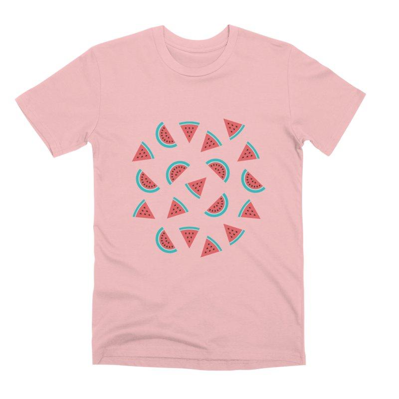 Watermelon Fruit Pattern Men's Premium T-Shirt by abstractocreate's Artist Shop