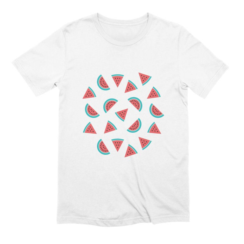Watermelon Fruit Pattern Men's Extra Soft T-Shirt by abstractocreate's Artist Shop