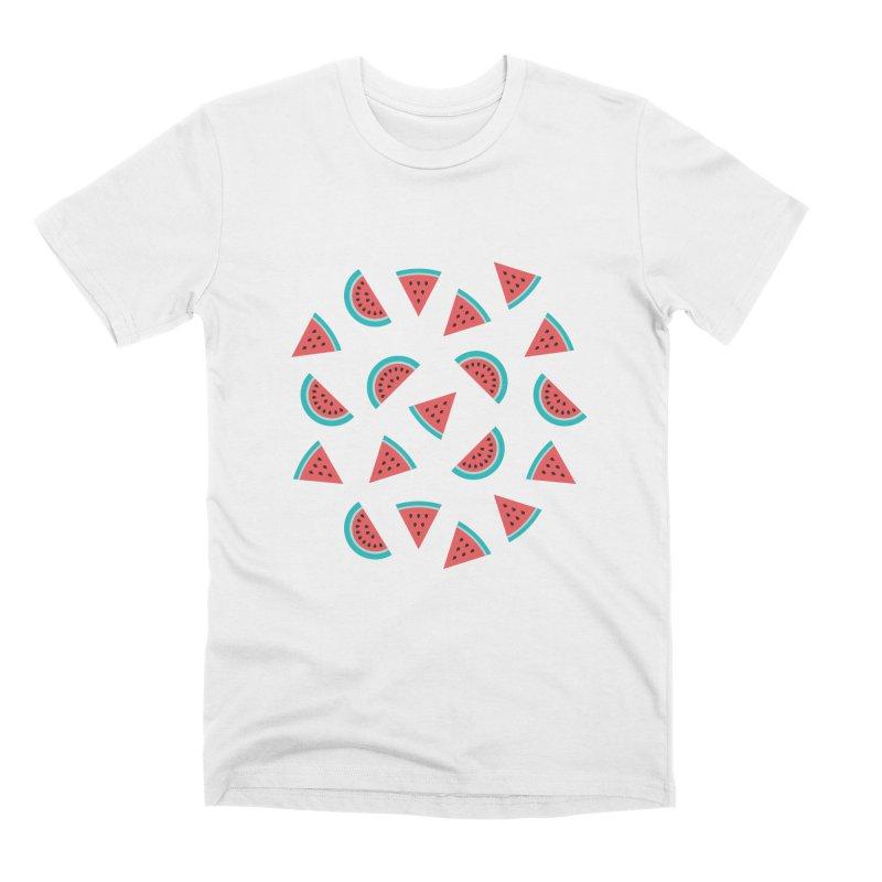 Watermelon Fruit Pattern Men's T-Shirt by abstractocreate's Artist Shop