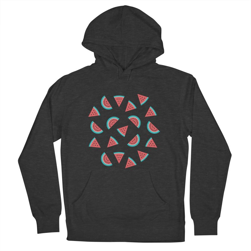 Watermelon Fruit Pattern Women's French Terry Pullover Hoody by abstractocreate's Artist Shop