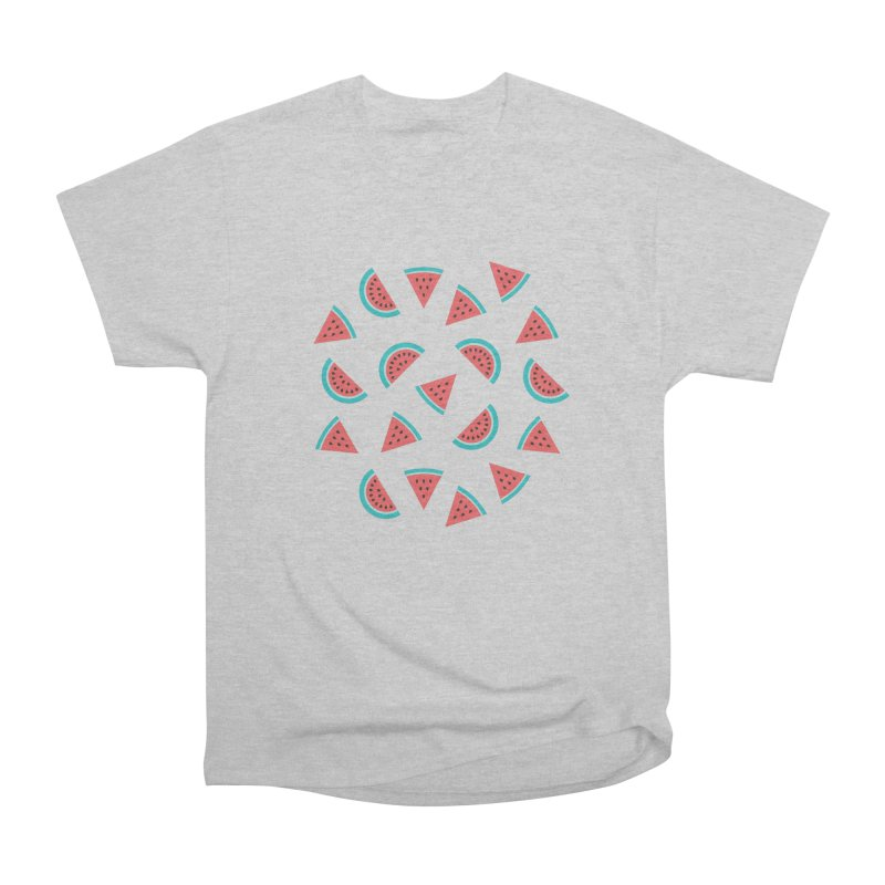 Watermelon Fruit Pattern Men's Heavyweight T-Shirt by abstractocreate's Artist Shop