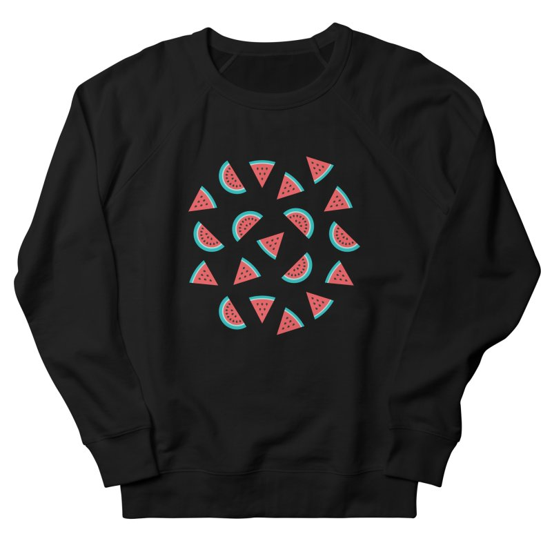 Watermelon Fruit Pattern Women's French Terry Sweatshirt by abstractocreate's Artist Shop