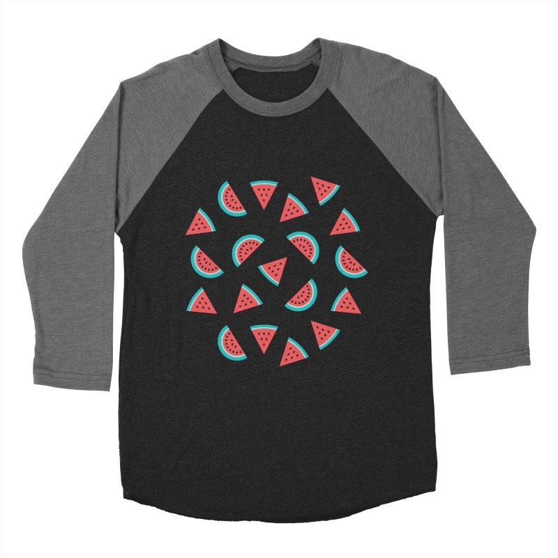 Watermelon Fruit Pattern Women's Baseball Triblend Longsleeve T-Shirt by abstractocreate's Artist Shop