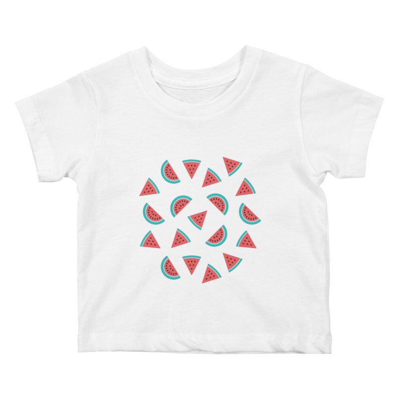 Watermelon Fruit Pattern Kids Baby T-Shirt by abstractocreate's Artist Shop
