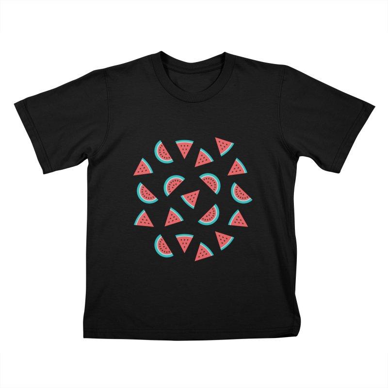Watermelon Fruit Pattern Kids T-Shirt by abstractocreate's Artist Shop