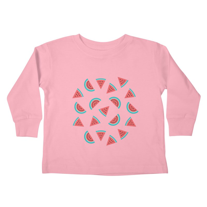 Watermelon Fruit Pattern Kids Toddler Longsleeve T-Shirt by abstractocreate's Artist Shop