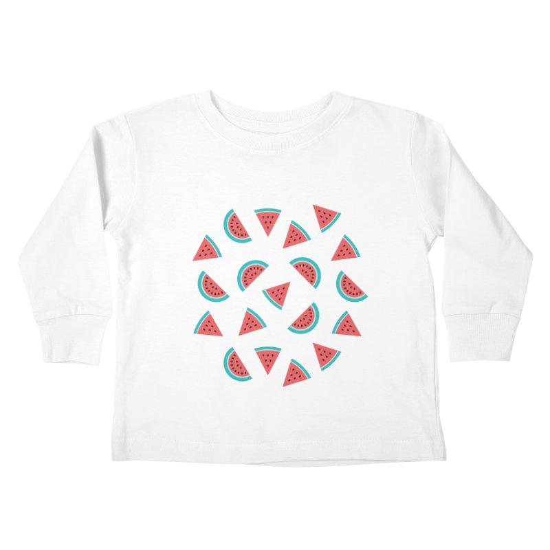 Watermelon Fruit Pattern Kids Toddler Longsleeve T-Shirt by abstractocreate's Artist Shop