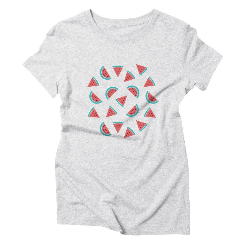 Watermelon Fruit Pattern Women's Triblend T-Shirt by abstractocreate's Artist Shop