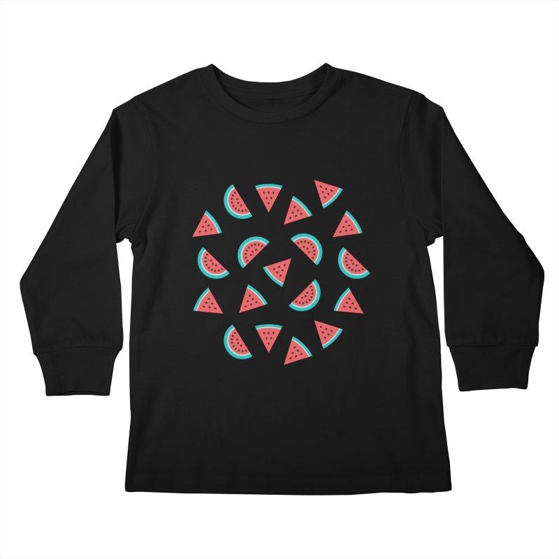 Watermelon Fruit Pattern Kids Longsleeve T-Shirt by abstractocreate's Artist Shop