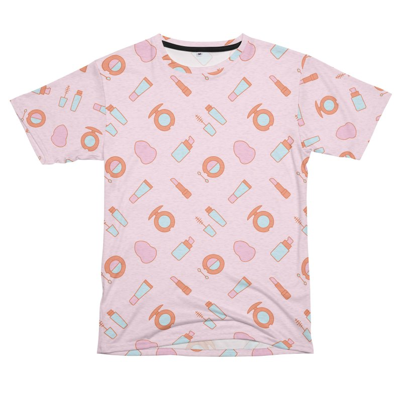 Cosmetics Pattern Women's Unisex French Terry T-Shirt Cut & Sew by abstractocreate's Artist Shop