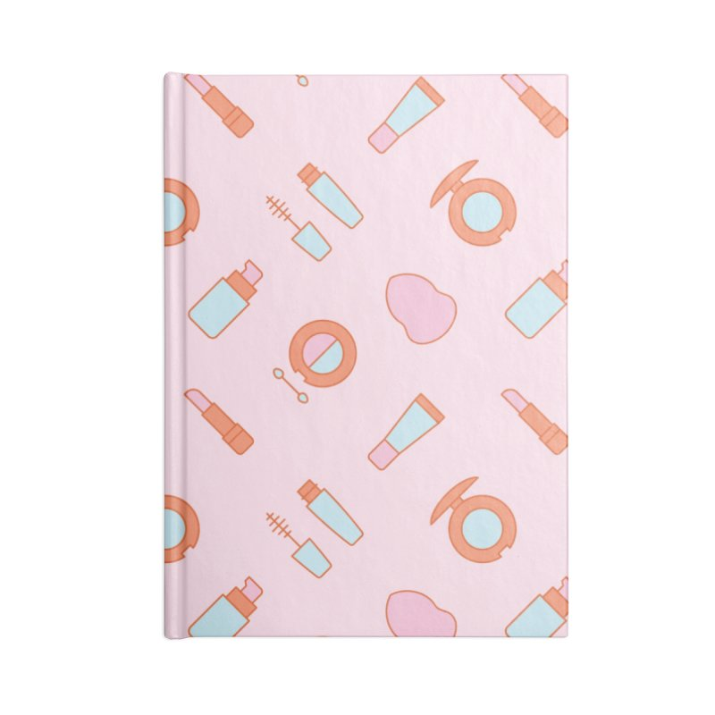 Cosmetics Pattern Accessories Lined Journal Notebook by abstractocreate's Artist Shop
