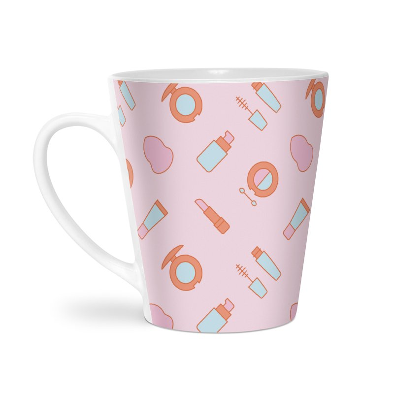 Cosmetics Pattern Accessories Latte Mug by abstractocreate's Artist Shop
