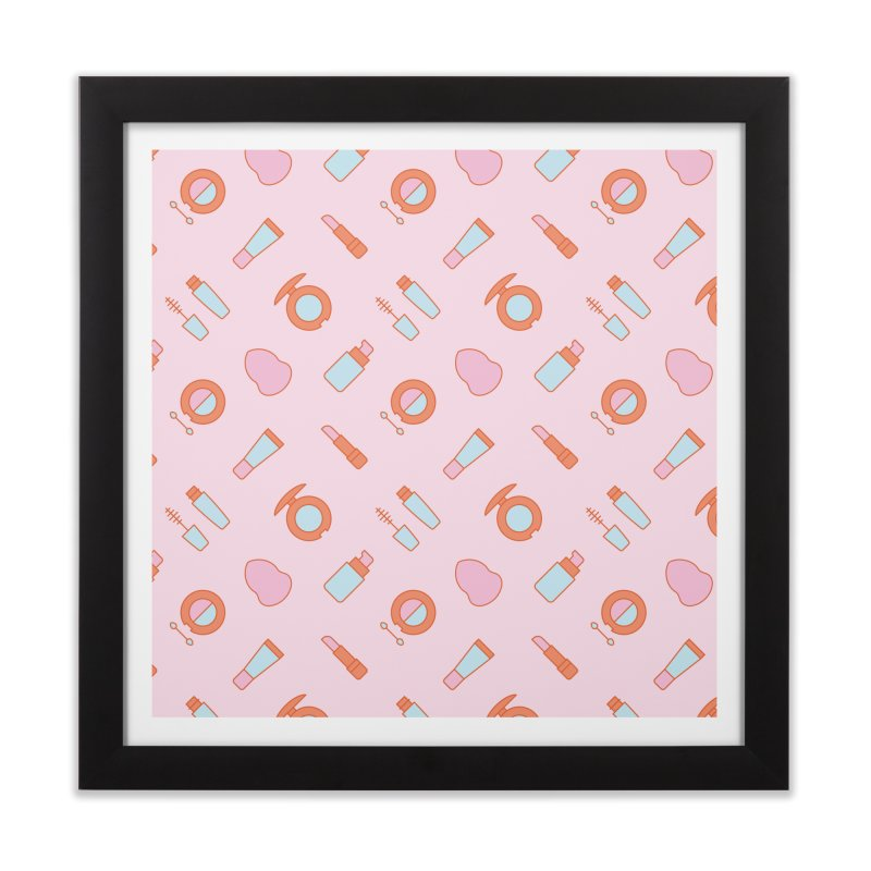 Cosmetics Pattern Home Framed Fine Art Print by abstractocreate's Artist Shop