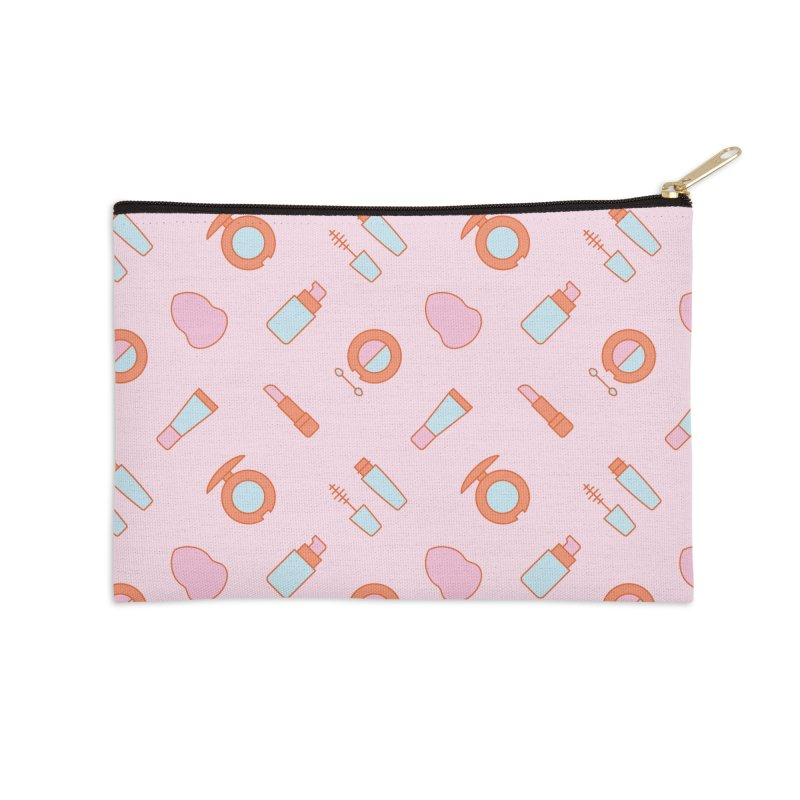 Cosmetics Pattern Accessories Zip Pouch by abstractocreate's Artist Shop