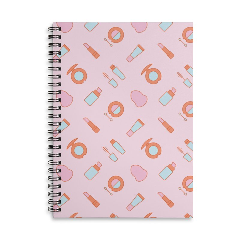 Cosmetics Pattern Accessories Lined Spiral Notebook by abstractocreate's Artist Shop