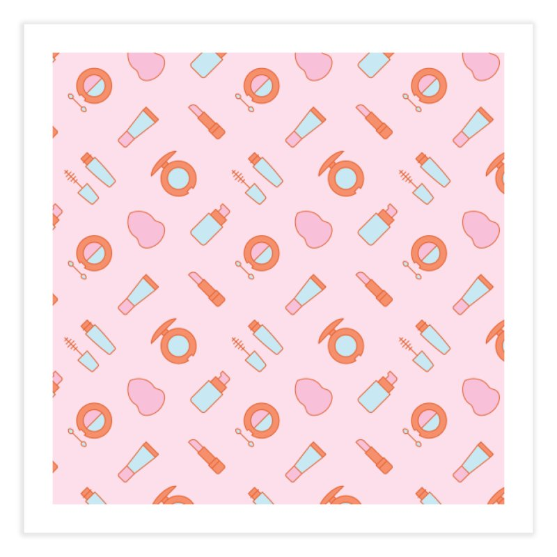 Cosmetics Pattern Home Fine Art Print by abstractocreate's Artist Shop