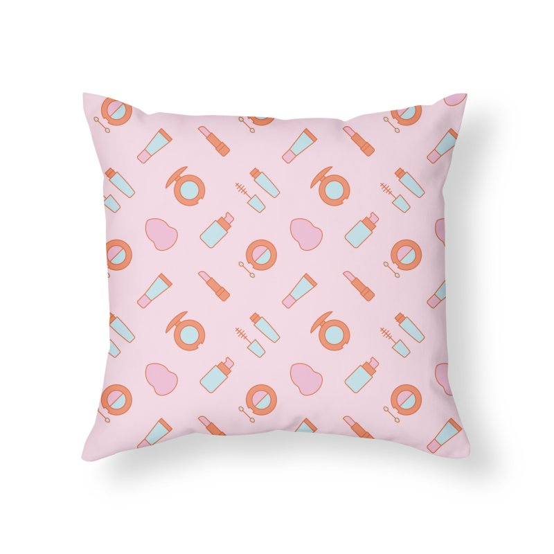 Cosmetics Pattern Home Throw Pillow by abstractocreate's Artist Shop