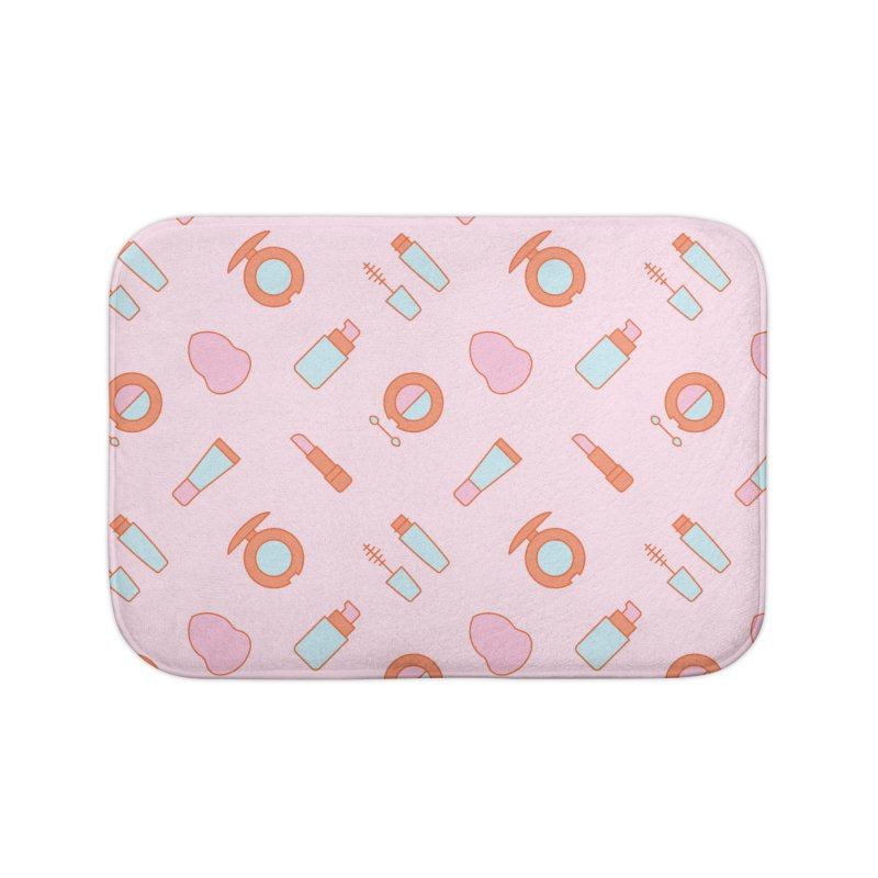 Cosmetics Pattern Home Bath Mat by abstractocreate's Artist Shop