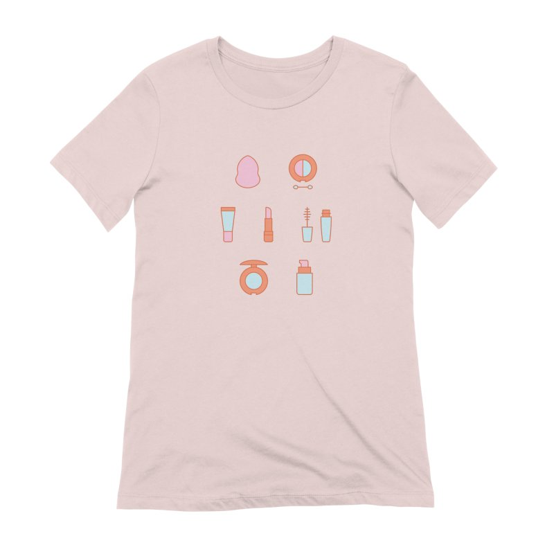 Cosmetics Pattern Women's Extra Soft T-Shirt by abstractocreate's Artist Shop