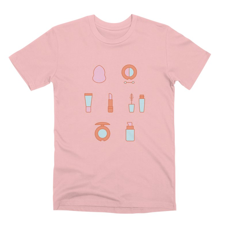 Cosmetics Pattern Men's Premium T-Shirt by abstractocreate's Artist Shop