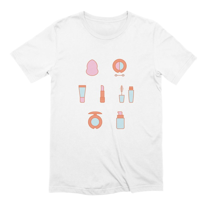 Cosmetics Pattern Men's Extra Soft T-Shirt by abstractocreate's Artist Shop