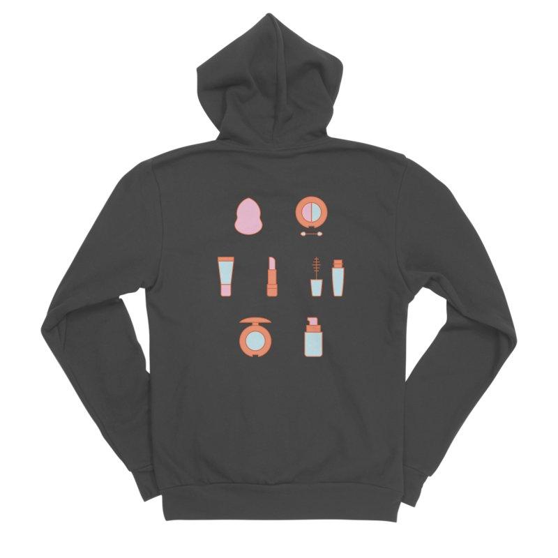 Cosmetics Pattern Men's Sponge Fleece Zip-Up Hoody by abstractocreate's Artist Shop