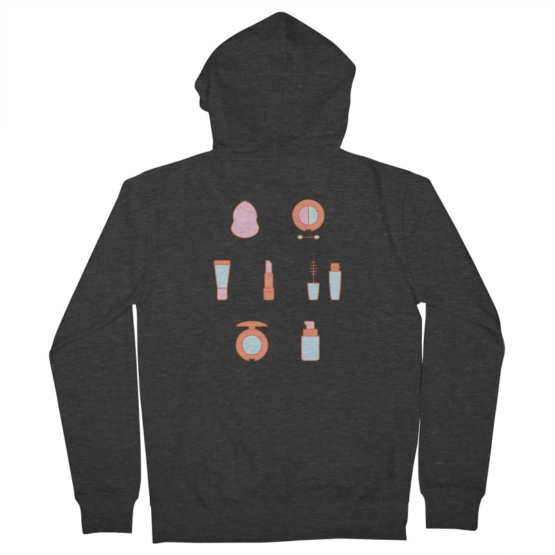 Cosmetics Pattern Women's French Terry Zip-Up Hoody by abstractocreate's Artist Shop