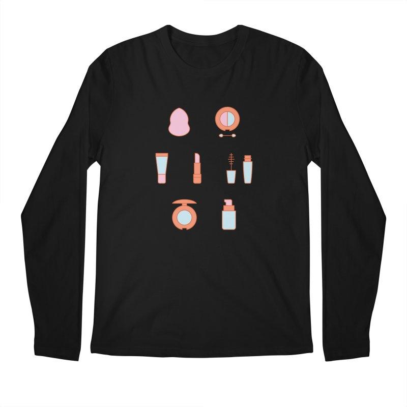 Cosmetics Pattern Men's Regular Longsleeve T-Shirt by abstractocreate's Artist Shop