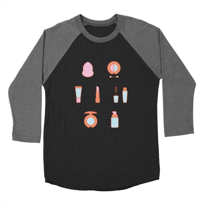 Cosmetics Pattern Men's Baseball Triblend Longsleeve T-Shirt by abstractocreate's Artist Shop