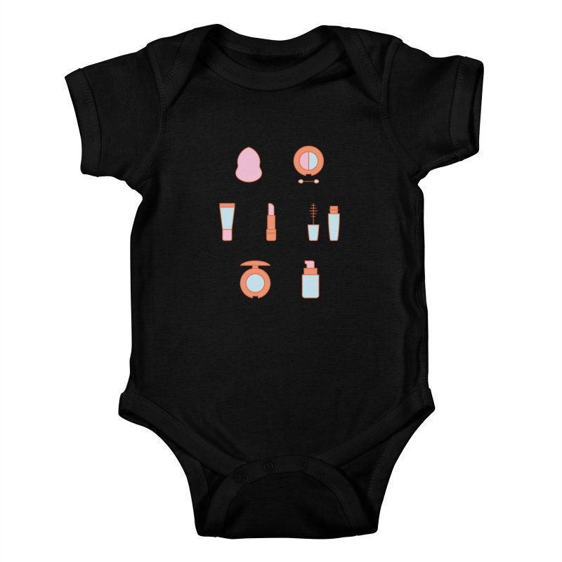 Cosmetics Pattern Kids Baby Bodysuit by abstractocreate's Artist Shop