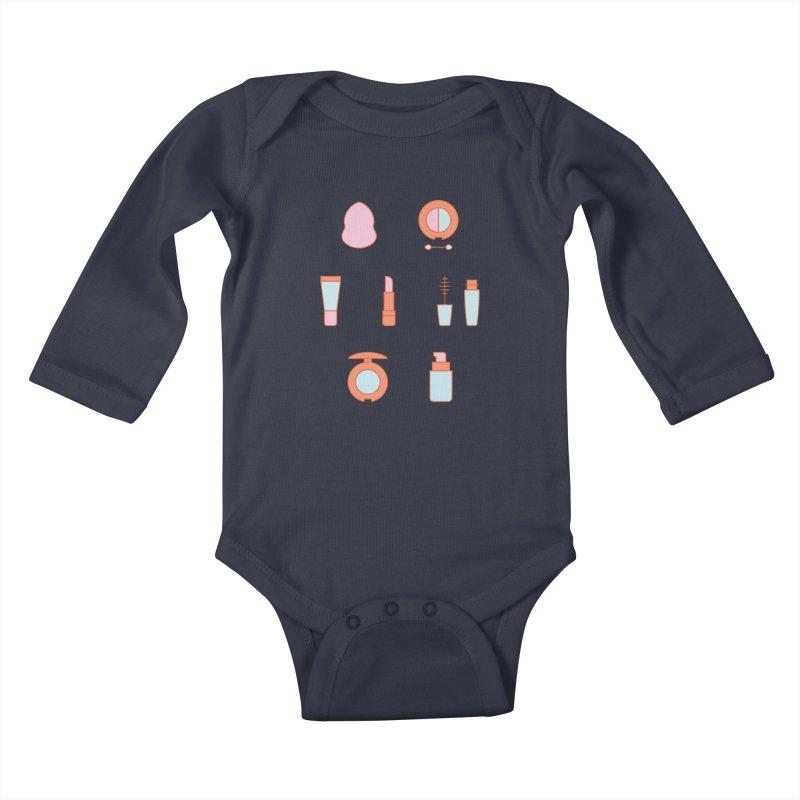 Cosmetics Pattern Kids Baby Longsleeve Bodysuit by abstractocreate's Artist Shop