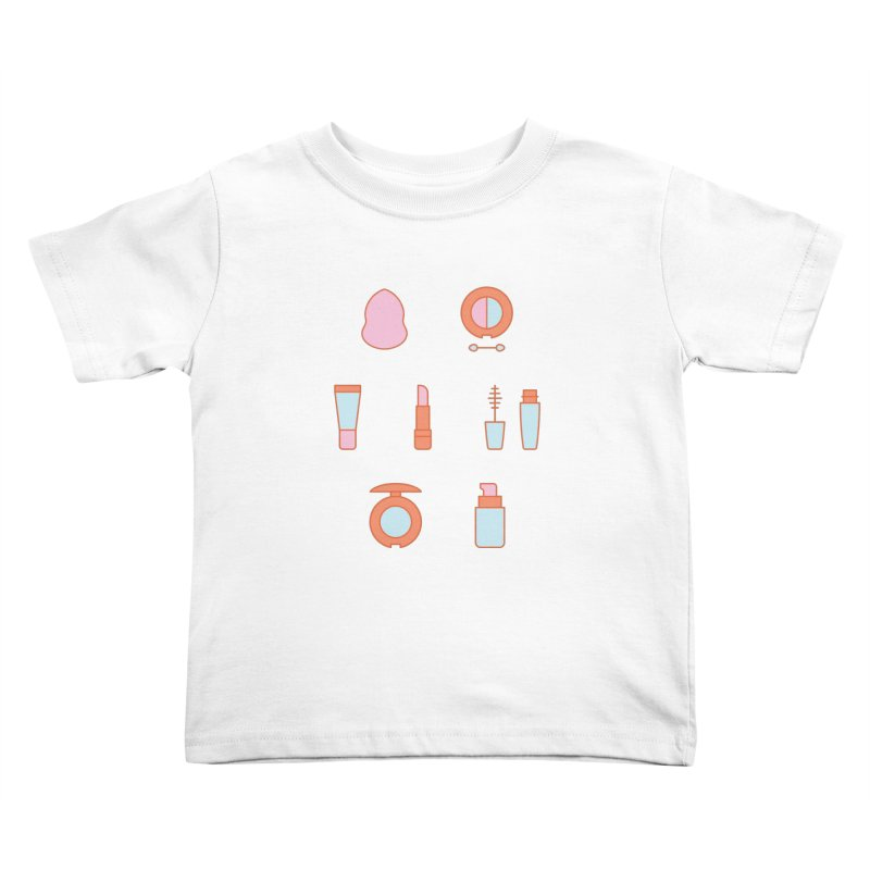 Cosmetics Pattern Kids Toddler T-Shirt by abstractocreate's Artist Shop