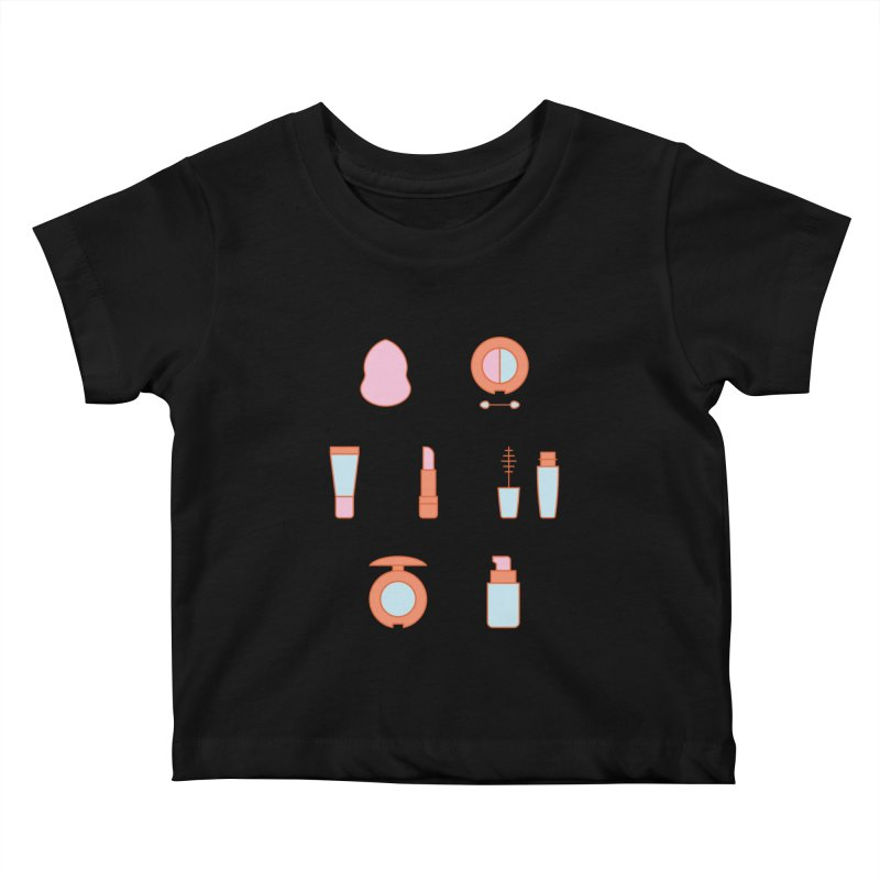 Cosmetics Pattern Kids Baby T-Shirt by abstractocreate's Artist Shop