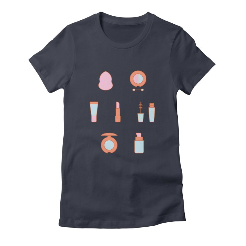 Cosmetics Pattern Women's T-Shirt by abstractocreate's Artist Shop