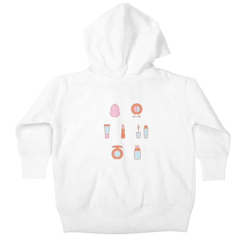Cosmetics Pattern Kids Baby Zip-Up Hoody by abstractocreate's Artist Shop