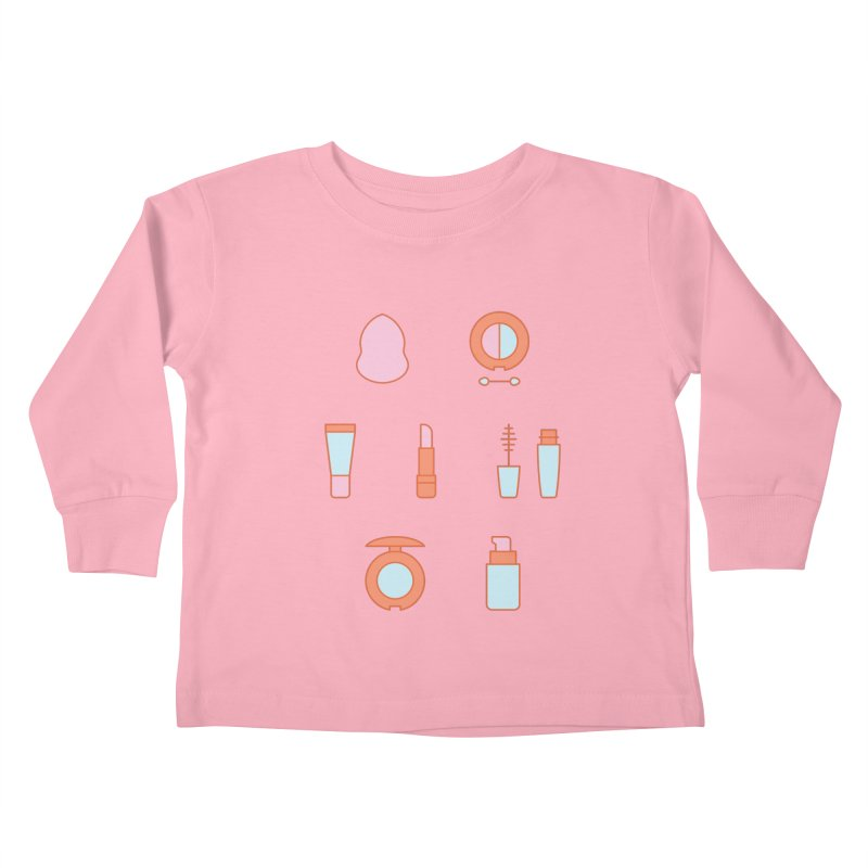 Cosmetics Pattern Kids Toddler Longsleeve T-Shirt by abstractocreate's Artist Shop