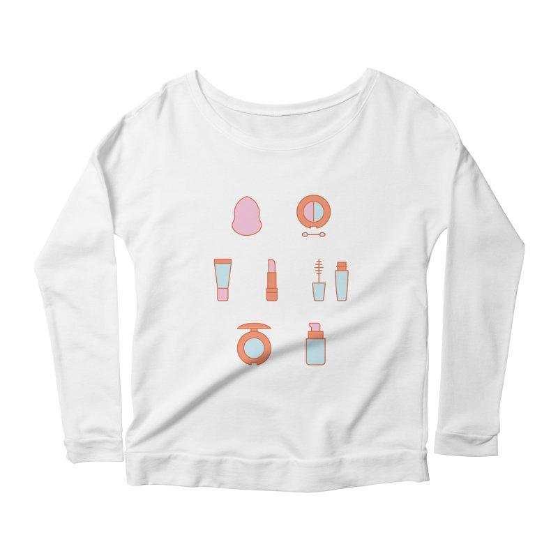Cosmetics Pattern Women's Scoop Neck Longsleeve T-Shirt by abstractocreate's Artist Shop